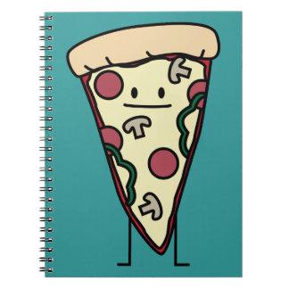 Rebanada de la pizza libros de apuntes