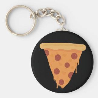 Rebanada de la pizza llaveros personalizados