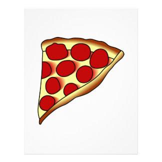 Rebanada de la pizza membretes personalizados