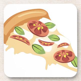 Rebanada de la pizza posavaso