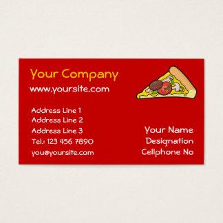 Rebanada de la pizza tarjeta de negocios