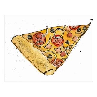 rebanada de la pizza postales