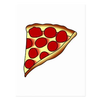 Rebanada de la pizza tarjeta postal