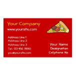 Rebanada de la pizza tarjetas de visita
