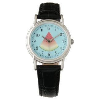 Rebanada de la sandía reloj de mano