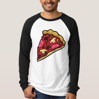 Rebanada de la seta y de la pizza de salchichones camisas