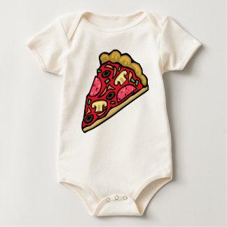 Rebanada de la seta y de la pizza de salchichones trajes de bebé