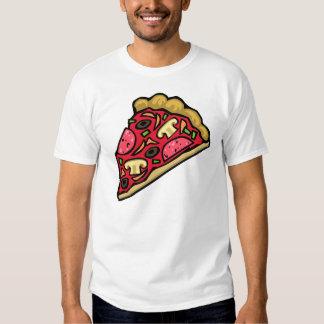 Rebanada de la seta y de la pizza de salchichones poleras
