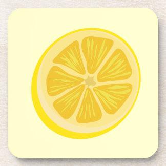 Rebanada de limón posavasos de bebidas