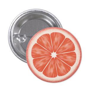 Rebanada de los agrios del pomelo rosado pin redondo 2,5 cm