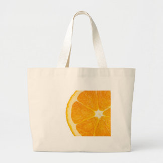 Rebanada de naranja bolsa de mano