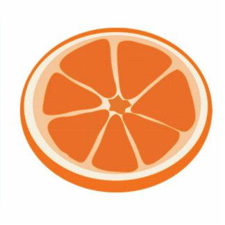 Rebanada de naranja esculturas fotográficas