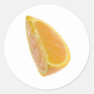 Rebanada de naranja pegatina redonda