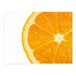 Rebanada de naranja postal