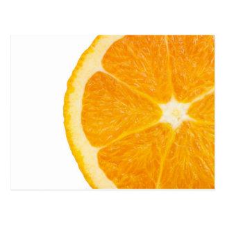 Rebanada de naranja tarjeta postal