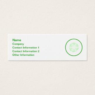 Rebanada de pepino. Verde y blanco Tarjeta De Visita Pequeña