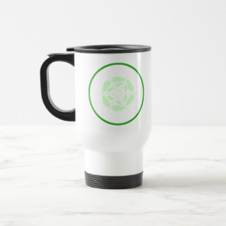 Rebanada de pepino. Verde y blanco Taza De Café