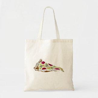 Rebanada de pizza bolsa tela barata