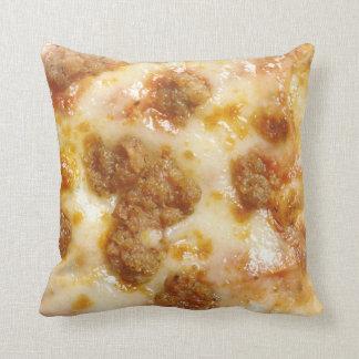 Rebanada de pizza cojín decorativo