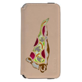 Rebanada de pizza funda billetera para iPhone 6 watson