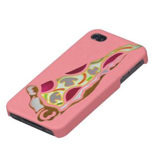 Rebanada de pizza iPhone 4/4S carcasas