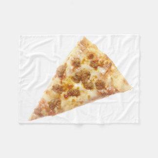 Rebanada de pizza manta de forro polar