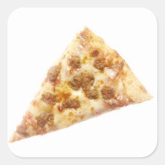 Rebanada de pizza pegatina cuadrada