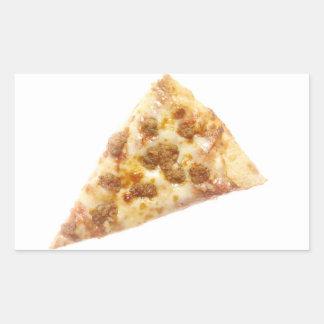 Rebanada de pizza pegatina rectangular