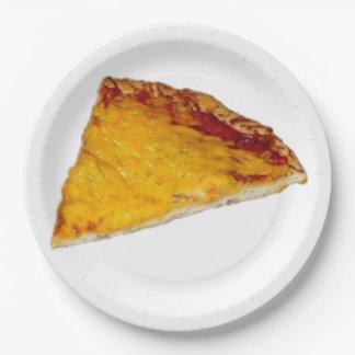 Rebanada de pizza plato de papel de 9 pulgadas