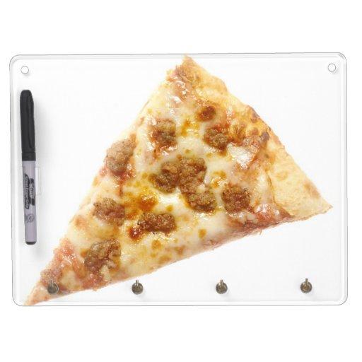 Rebanada de pizza tablero blanco