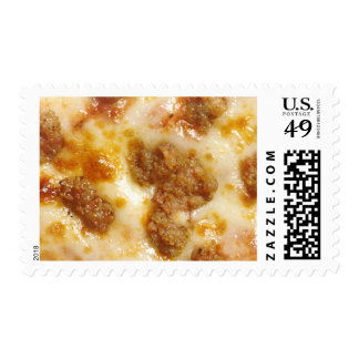 Rebanada de pizza timbre postal