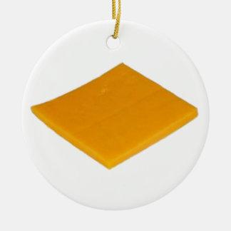 Rebanada de queso ornamento para reyes magos
