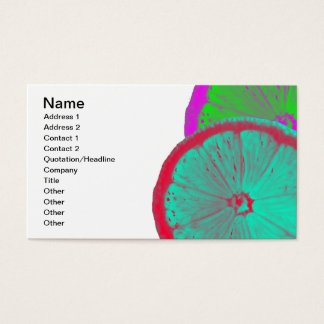 Rebanada de tarjeta de visita del limón