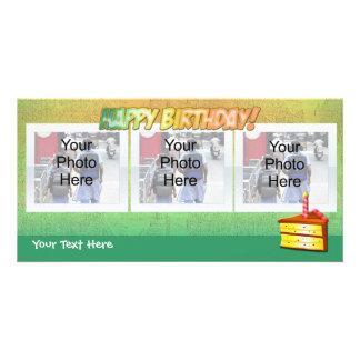Rebanada de tarjetas felices de la foto de Birthdy Tarjeta Personal Con Foto