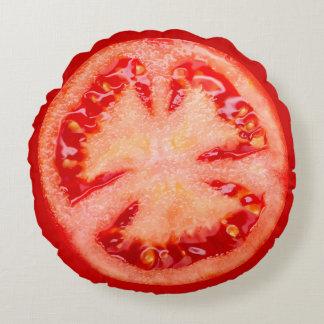 Rebanada de tomate cojín redondo