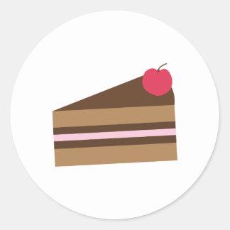Rebanada de torta pegatina redonda