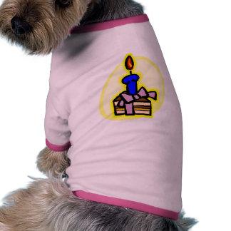 Rebanada de torta camiseta con mangas para perro