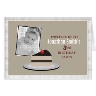 Rebanada de torta tarjeta de felicitación
