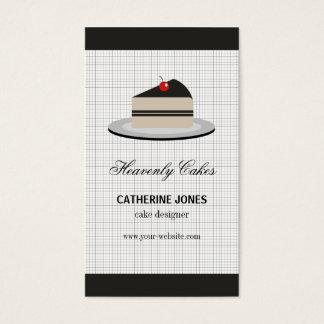 Rebanada de torta tarjeta de negocios