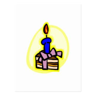 Rebanada de torta postal