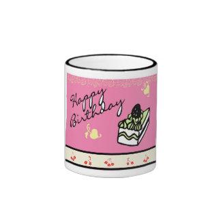Rebanada del feliz cumpleaños - taza