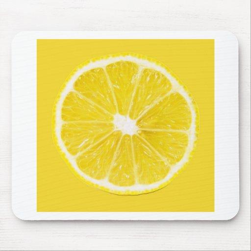 rebanada del limón alfombrilla de ratón
