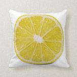 rebanada del limón cojines