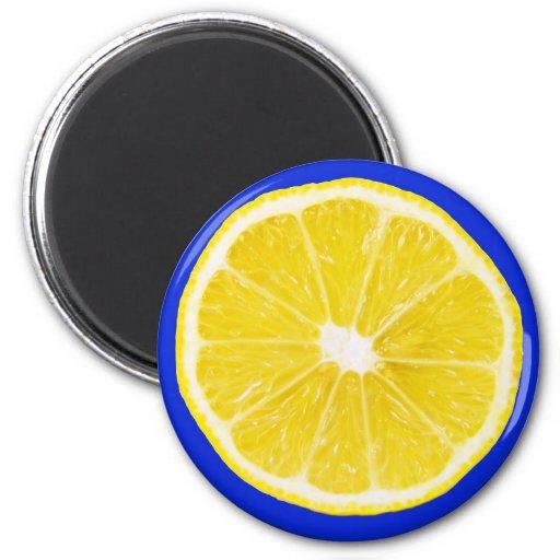 rebanada del limón imán para frigorífico
