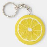 rebanada del limón llaveros personalizados