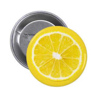 rebanada del limón pin redondo de 2 pulgadas