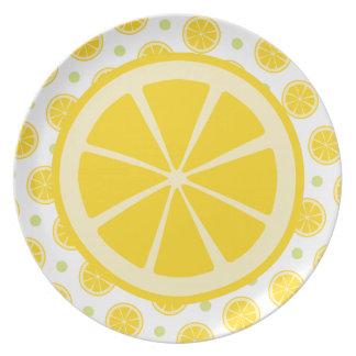 Rebanada del limón plato para fiesta