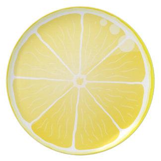 Rebanada del limón platos