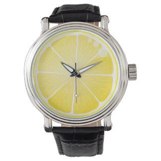 Rebanada del limón relojes de mano