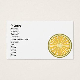 rebanada del limón tarjeta de negocios